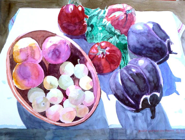 FARMER'S FRUITS AND VEGETABLES, 42x56, 2012