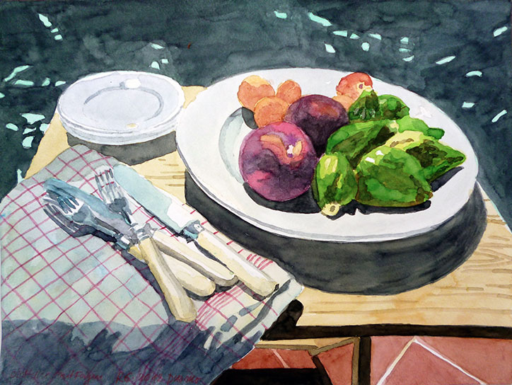 FRUIT PLATE WITH FIGS, 30x40, 2012