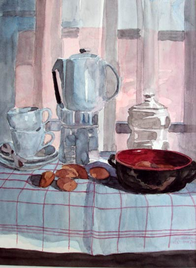 STILL LIFE WITH COFFEE MAKER, 40x30, 2011