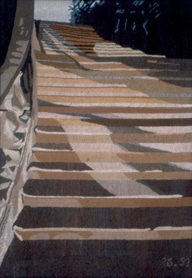 STAIRS IN POTSDAM I, 193x132, 1991