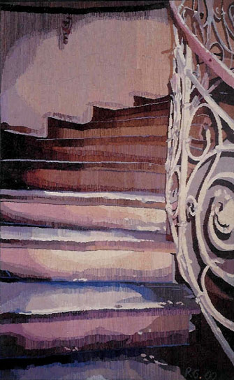 STAIRS IN POTSDAM III, 206 x128, 2000